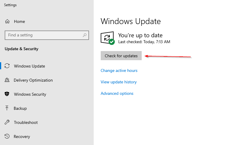 Speed Up Your PC - Windows Update