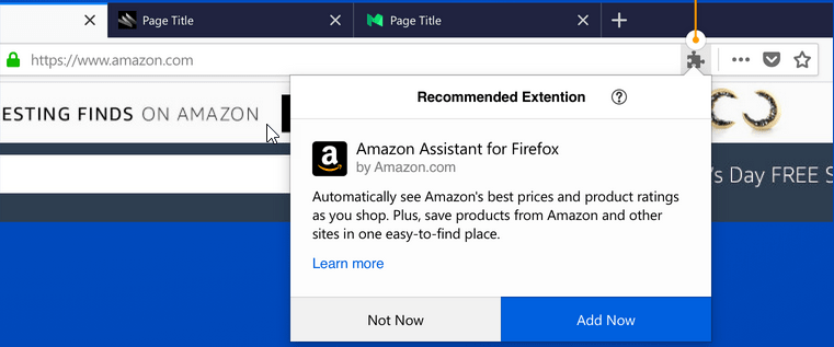 Disable Firefox extension recommendation