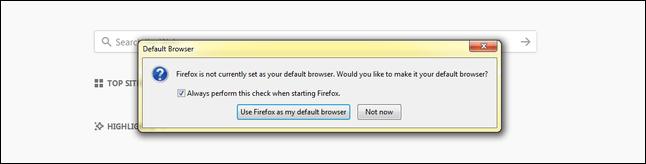 set default browser firefox