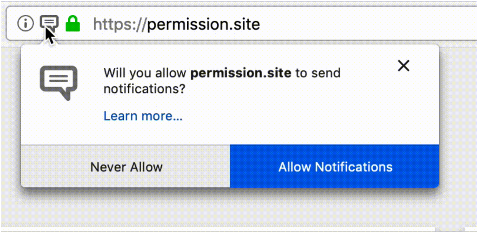 Firefox Notifications - Disable