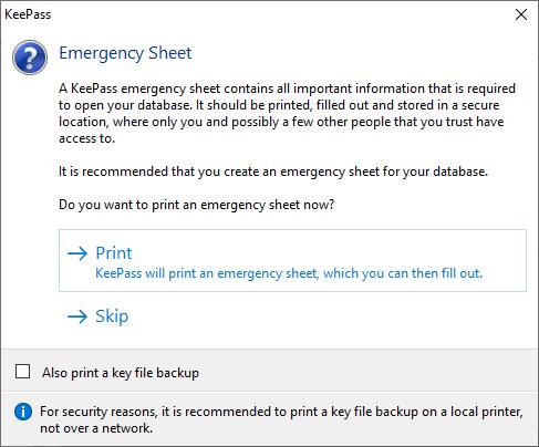 Emergency Sheet