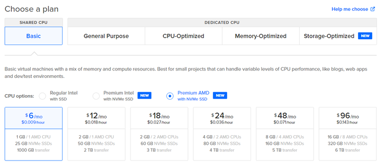 DigitalOcean AMD Premium VPS